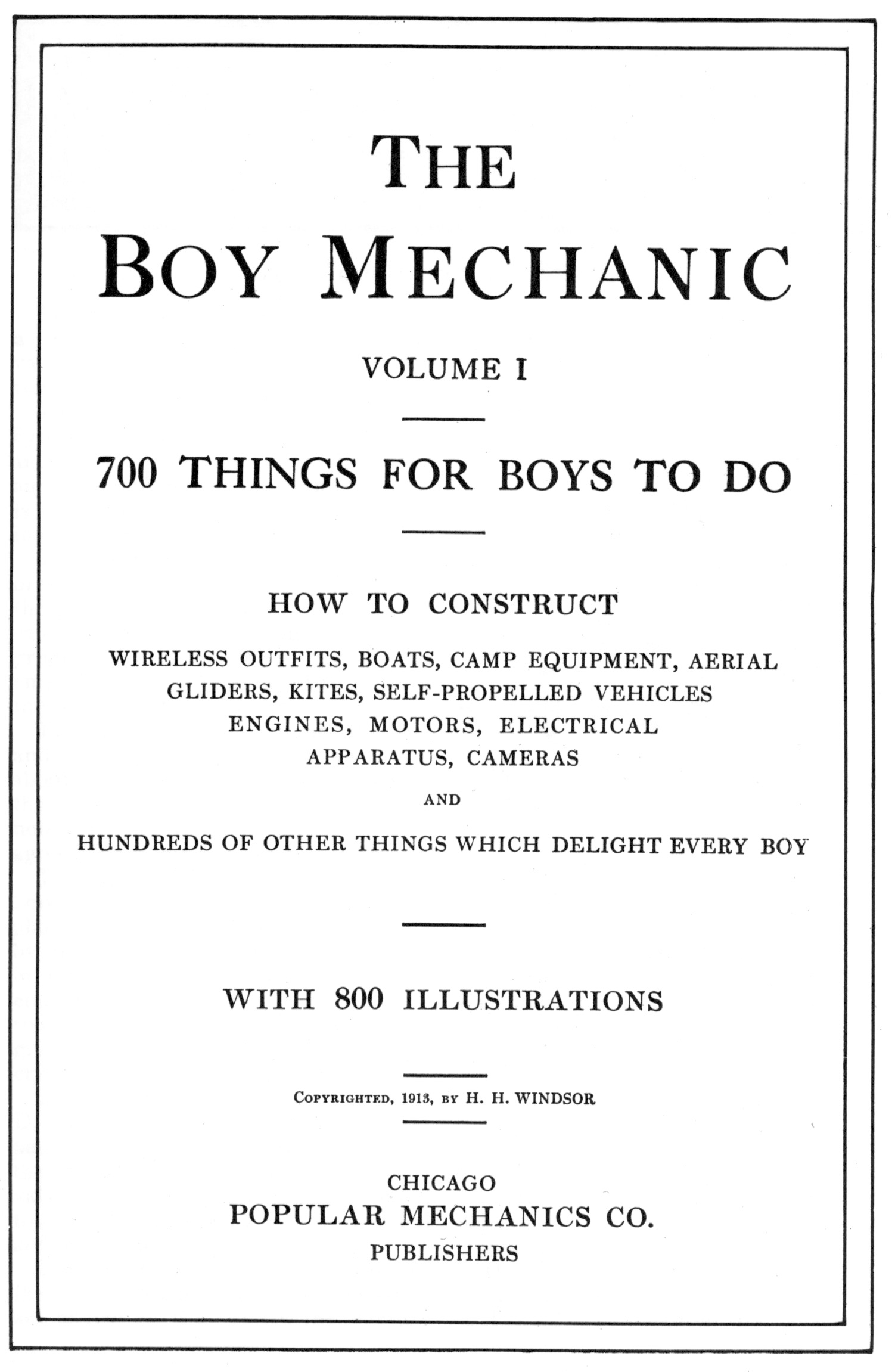 Boy Mechanic 1